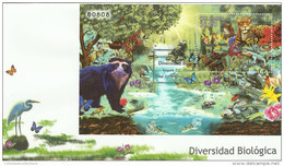 Lote HF74F, Colombia, 2011, FDC,  Flora, Fauna, Ave, Orquidea, Bird, Owl, Frog, Bear, Panther, Monkey, Butterfly, Orchid - Colombia