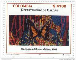 Lote 35b, Colombia, 2001, Mariposas Del Eje Cafetero, Butterfly Stamp - Colombia