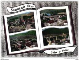 Carte Postale 88. Celles-sur-Plaine à Livre Ouvert  L'Usine L'hotel De Ville Les écoles L'église  Très Beau Plan - France