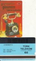 TURKEY - Old Telephone, Bindokuzyüzyirmiiki 1922(60 Units, Plasteknik), 11/00, Used - Turquie