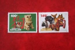 Chinees Nieuwjaar Dog Chien NVPH 1628-1629  2006 MNH POSTFRIS NEDERLANDSE ANTILLEN  NETHERLANDS ANTILLES - Niederländische Antillen, Curaçao, Aruba
