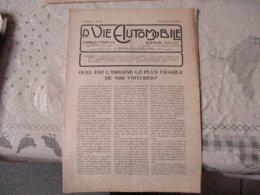 LA VIE AUTOMOBILE DUNOD EDITEUR DU SAMEDI 26 JUILLET 1919 LA VOITURE SIGMA ,LE CARBURATEUR DE LA TRAVERSEE DE L'OCEAN... - Livres, BD, Revues