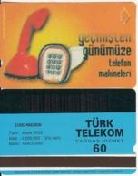 TURKEY - Old Telephone, Binsekizyüzyetmissekiz 1968(60 Units, Abacicard), 12/00, Used - Turquie