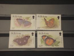 ST.HELENA - 1994 FARFALE 4 VALORI - NUOVI(++) - St. Helena