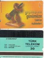 TURKEY - Old Telephone, Binsekizyüzyetmissekiz 1978(30 Units, Plasteknik), 12/00, Used - Turquie