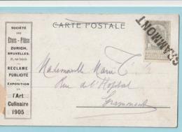 Postkaart Met Naamstempel GRAMMONT - Marcophilie