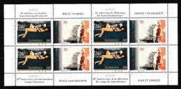 1995 Slovenia EUROPA CEPT EUROPE 4 Serie Di 2 Valori In Minifoglio MNH** Minisheet - 1995