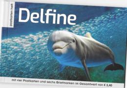 AUSTRIA, 2019, MNH,PERSONALIZED BOOKLET,DOPLHINS,  BOOKLET WITH ONE PANE - Dolfijnen