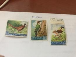 San Marino Birds 3v. 1960 Mnh - Neufs