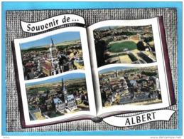Carte Postale 80. Albert  Vue D'avion à Livre Ouvert  Trés Beau Plan - Albert