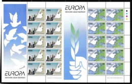 1995 Irlanda Ireland Eire EUROPA CEPT EUROPE 10 Serie Di 2v. MNH** In 2 Minifogli 2 Minisheets - 1995