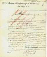 1823 EXCEPTIONNELLE FACTURE Ancienne  Manufacture Royale De Plomb Laminé Rue Betizy Paris Pour Mme Lecouteulx Rouen - 1800 – 1899