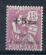 Port-Said, (Egypt) , +5/15 (lilas), 1927, MNH VF - Port Said (1899-1931)