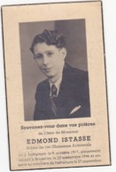 41932 -  Militaria - Image Pieuse Soldat Au 1er Chasseurs Ardennais - Ed  Istasse   Nafraiture 1917 - Divise