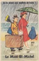 LE MONT SAINT-MICHEL (Manche); As-tu Pensé Aux Maillots De Bains ? (Carte à Système) - Cartoline Con Meccanismi