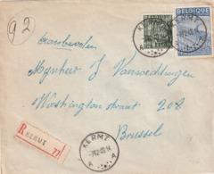 Aangetekende Brief Met Stempel KERMT 1949 - 1948 Export