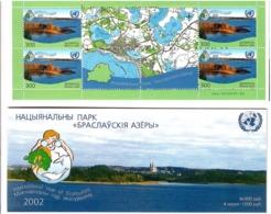 Belarus  2002 . Eco-tourism (Braslavsk Lakes,Maps).Booklet Of 4+4 Label.   Michel # 470 MH 5 - Bielorussia