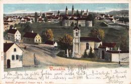 VARAZDIN HUNGARY~PANORMA VIEW ~1901 ARTIST HEMEN-PAPIRNICE PUBLISHED POSTCARD 42413 - Ungarn