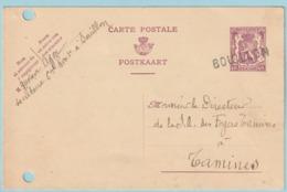 Postkaart Met Naamstempel BOUILLON (1940) - Marcophilie