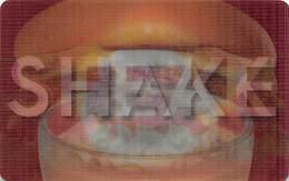 Steak N Shake Gift Card - Lenticular 3D Front With Store Logo, Milk Shake & Burger Images - Gift Cards