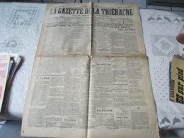 LA GAZETTE DE LA THIERACHE DU 18 AVRIL 1912 LE TITANIC A SOMBRE,L'ELECTION LEGISLATIVE DE DIMANCHE A PARIS..... - Kranten