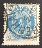 1875 Royal Emblem, Danmark, Denmark, Danemark, *, ** Or Used - Usati