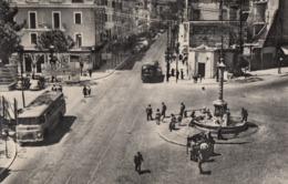 GENZANO DI ROMA-PIAZZA QUATTRO NOVEMBRE-ANIMATISSIMA CON CORRIERA-BUS-CARTOLINA VERA FOTOGRAFIA VIAGGIATA 1950-1960 - Other