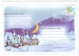 UKRAINE 2013. (3-3653). MERRY CHRISTMAS! WINTER LANDSCAPE. Postal Stationery Stamped Cover. Mint (**) - Ucraina