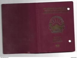 Passport, Pasaporte, Reisepass,Republic Of Macedonia,canceled For Litle Kids And Visa 3 - Documenti Storici