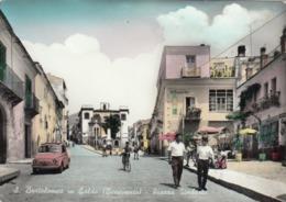 SAN BARTOLOMEO IN GALDO-BENEVENTO-PIAZZA UMBERTO BELLISSIMA CARTOLINA VERA FOTOGRAFIA VIAGGIATA TRA IL 1955-1960 - Benevento