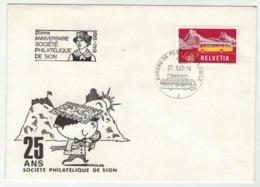Suisse // Schweiz // Switzerland //  1960-1969 //  25 Ans De La Société Philatélique De Sion - Suisse