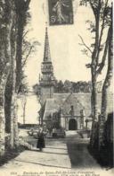 REPRODUCTION CARTE ANCIENNE - H11 - CARTES D'AUTREFOIS - FINISTERE - PLOUGOULM - L'EGLISE - Francia