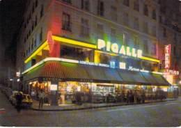 """75 - PARIS 18 ème - Bar Restaurant Brasserie Tabac """" PIGALLE """" 22 Bld De Clichy ( Cinéma """" ATLAS """") CPSM Grand Format - - Cafés, Hotels, Restaurants"""