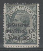 Smirne 1922 - Effigie 1,20 Pi. Su 15 C. **          (g6274) - 11. Auslandsämter