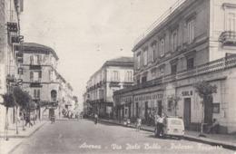 AVERSA-CASERTA-VIA ITALO BALBO-PALAZZO FARINARO-CARTOLINA VERA FOTOGRAFIA VIAGGIATA TRA IL 1950-1955 - Aversa
