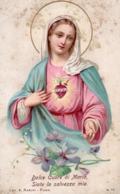 SA-00009-  DOLCE CUORE DI MARIA SIATE LA SALVEZZA MIA  AL SACRO CUORE DI MARIA - Imágenes Religiosas