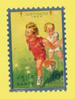 Timbre Antituberculeux Grand Format  Timbre Auto-vitrine à 10 Frs 2 Enfants Courant Dans Une Prairie De 1933 - Commemorative Labels