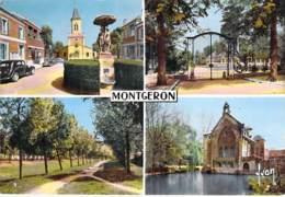 """** Lot De 2 Cartes ** 91 - MONTGERON : Multivues Et Maison De Repos """" La Sapinière """" CPSM Grand Format 1960-70 - Essonne - Montgeron"""