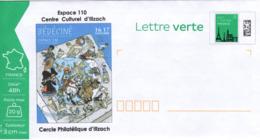 BEDECINE 2019 ILLZACH Ph. LUGUY : PAP Entier Vierge Affiche Label Alsacienne Astérix Tintin Percevan Hendrix - Fumetti