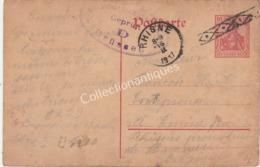 Entier Postal 10ct  - 1917 - Militarische Uberwachungsstelle  - De Guben Brandebourg Vers Emine - Interi Postali