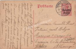 Entier Postal 10ct  - 1917 - Militarische Uberwachungsstelle  - D'Emine Vers Guben Brandebourg Allemagne - Interi Postali
