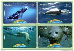 New Zealand - 1994 Marine Mammals Set (4) - NZ-G-102/5 - Very Fine Used - Neuseeland