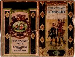 """Calendrier Publicitaire CHOCOLAT LOMBART 1914 Nombreux Scans """"Au Fidèle Berger"""" Présentation Historique Des Produits - Klein Formaat: 1901-20"""