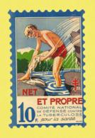 Timbre Antituberculeux Grand Format  Timbre Auto-vitrine à 10 Frs 1938 Garçonnet, Se Lavant. - Commemorative Labels