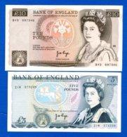 10  Pounds   1975 /1980  + 5  Pounds  Neuf - 1952-… : Elizabeth II