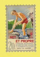 Timbre Antituberculeux Grand Format  Timbre Auto-vitrine à 20 Frs 1938 Garçonnet, Se Lavant. - Commemorative Labels