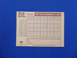 Sports Betting - TOTOBOLA - PORTUGAL- Year: 1971 - Apuestas Deportivas - TOTOBOLA - PORTUGAL- Año: 1971 - Loterijbiljetten