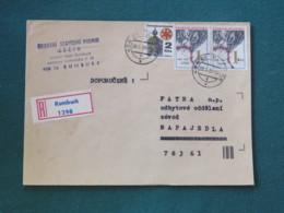 Czechoslovakia 1983 Registered Cover To Local - Hands - Destruction Of Lezaky - Czechoslovakia