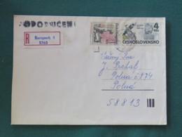 Czechoslovakia 1983 Registered Cover To Local - Anti Fascist Political Art - Lidice WW II - Czechoslovakia