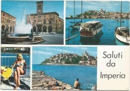 Z5254 Saluti Da Imperia (Ancona) - Ragazza Girl Femme Frau Chica Pin Up / Viaggiata 1966 - Pin-Ups